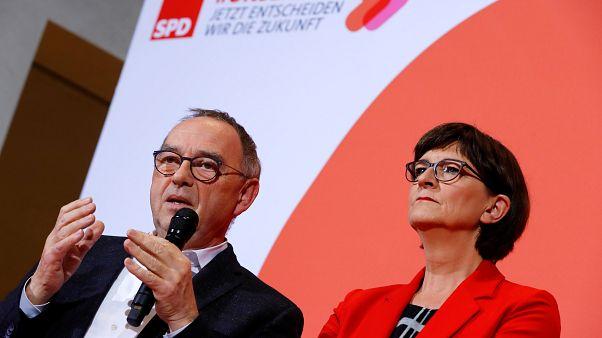 GroKo-Kurs: Designiertes SPD-Führungsduo vor heikler Aufgabe