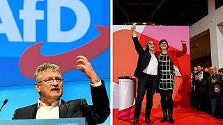 رهبران جدید احزاب سوسیال دموکرات و آلترناتیو برای آلمان انتخاب شدند