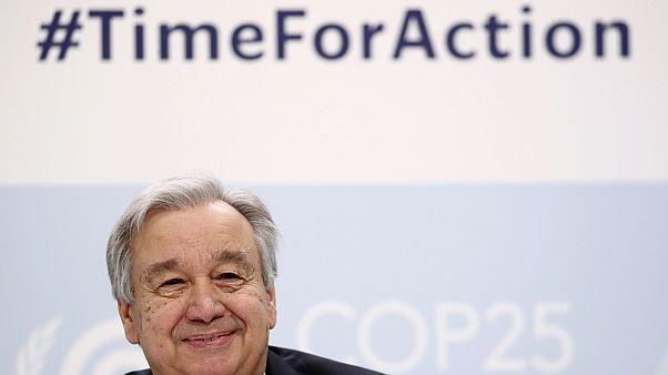 António Guterres, ENSZ-főtitkár a madridi klímacsúcson