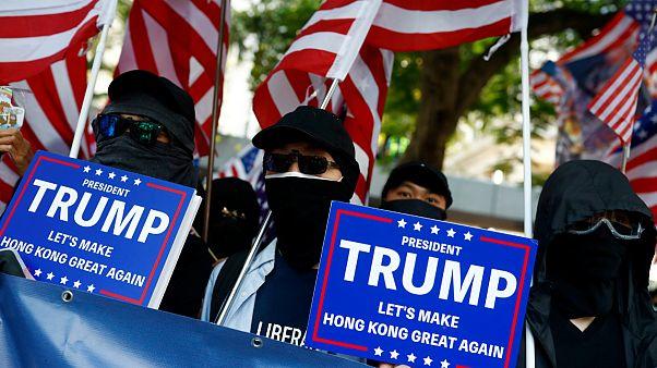 درخواست حمایت تظاهرکنندگان هنگ کنگی از ترامپ