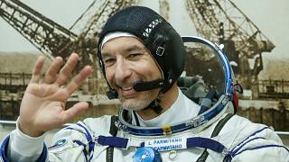 FILE PHOTO: International Space Station (ISS) crew member Luca Parmitano of the European Space Agency