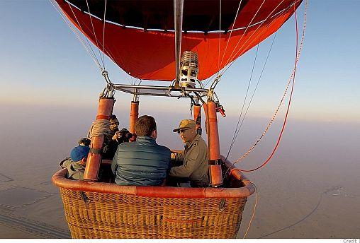 Дубай: соколиная охота на воздушном шаре