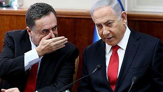 İsrail Dışişleri Bakanı Israel Katz, Başbakan Binyamin Netenyahu ile birlikte