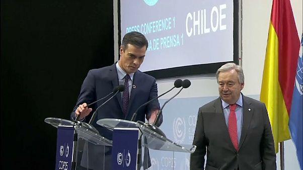 Guterres y Sánchez aliados contra el cambio climático