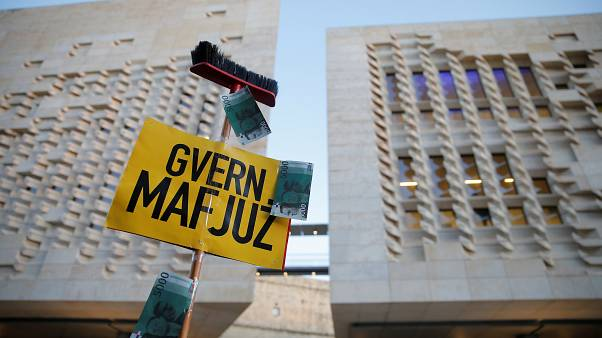 "Sign reads ""Mafia Government"""