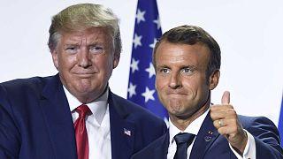 Emmanuel Macron et Donald Trump, à Biarritz en France lors du G7, le 26 août 2019.