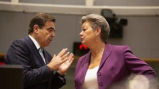 O grego Margaritis Schinas e a sueca Ylva Johansson vão trabalhar juntos na Comissão