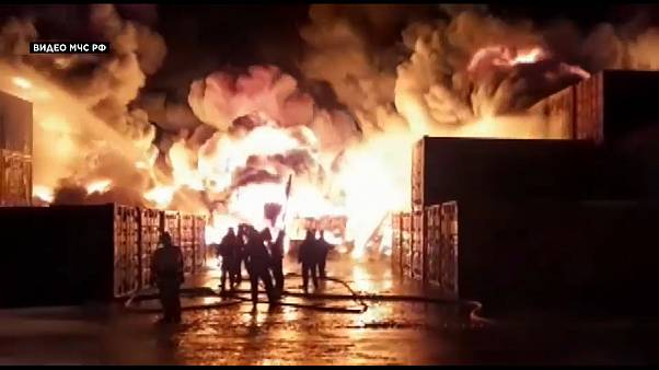 Αγία Πετρούπολη: Φωτιά στη βιομηχανική περιοχή