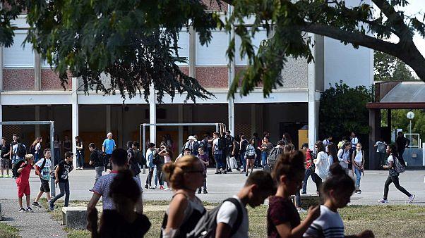Collège Bétance à Muret dans l'agglomération de Toulouse, le 5 septembre 2017.