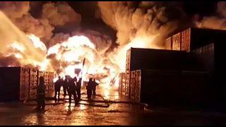 Großbrand in St. Petersburg