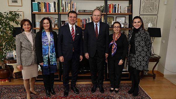 AB temsilcilerinin konuğu olan İmamoğlu: Türkiye Avrupa'nın bir parçası