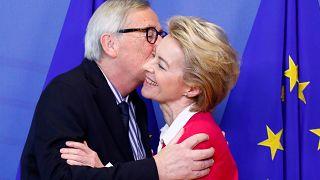 European Commission President Juncker hands over to Ursula von der Leyen