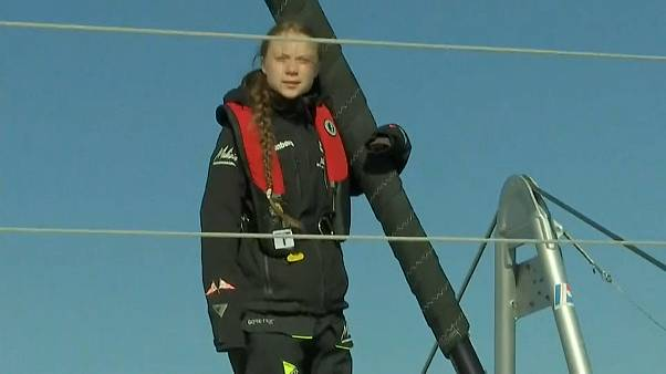 Nach 20 Tagen auf See: Greta Thunberg läuft in Lissabon ein