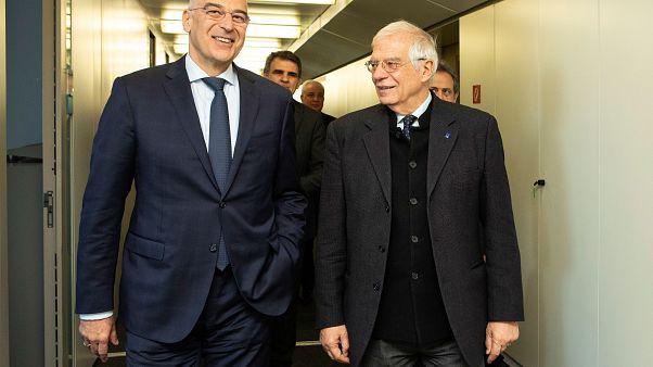 Josep Borrell Fontelles, Nikos Dendias