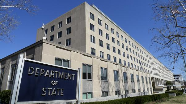 The Harry S. Truman Building, headquarters for the State Department, is seen in Washington