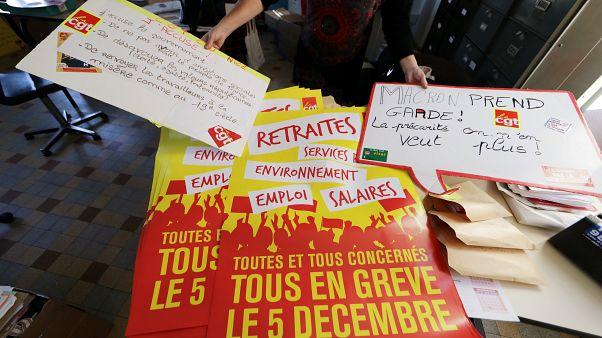 Предрождественский транспортный коллапс во Франции
