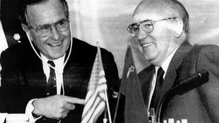 George Bush und Michail Gorbatschow