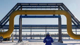 A section of the Power of SIberia pipeline to China