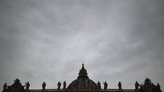 Vatican, Vatican CityFILE PHOTO: The dome of Saint Peter's Basilica is seen on a rainy day in Saint Peter's Square at the Vatican, November 12, 2019.