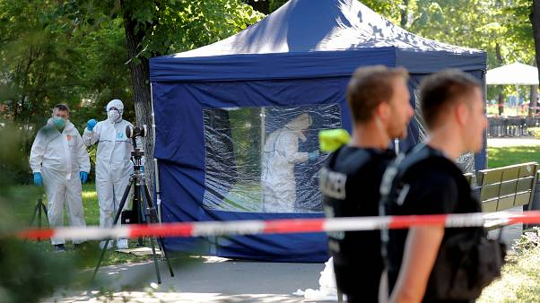 Der Tatort im Kleinen Tiergarten in Berlin am 23. August