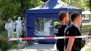 The crime scene in Berlin on August 23