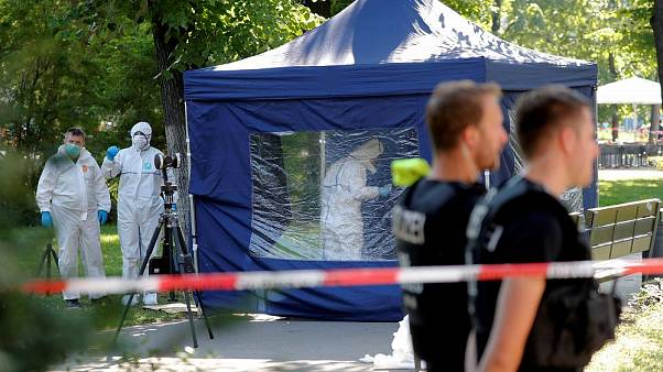 The crime scene in Berlin on August 23