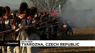 Napolyon'un en büyük savaş zaferlerinden biri Çekya'da yeniden canlandırıldı