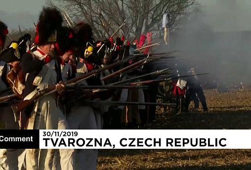 Aldeia checa reconstitui Batalha de Austerlitz