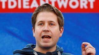Kühnert im EU-Wahlkampf im Mai in Saarbrücken