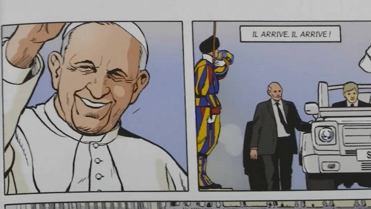 Képregény a pápa gárdistáiról