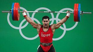 صورة للرباع المصري محمد إيهاب الحاصل على الميدالية البرونزية فى ريو دى جانيرو