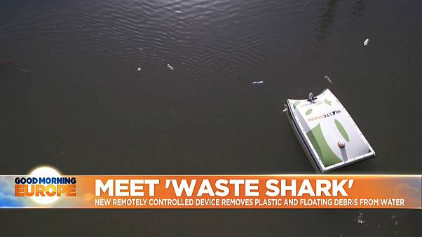 'WasteShark' the new remotely controlled device that removes plastic and floating debris from water