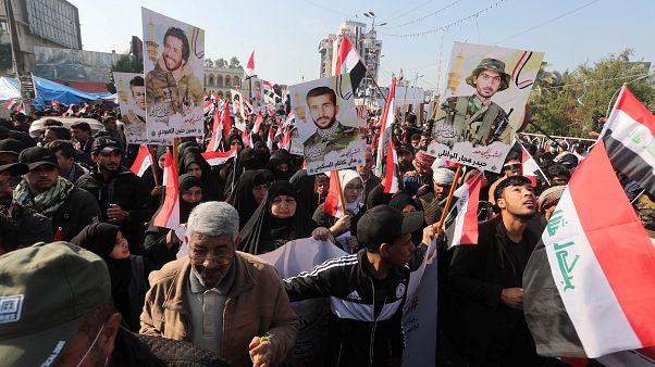 تجمع لمتظاهرين عراقيين وسط بغداد - 2019/12/05 -
