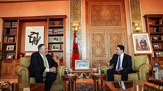 وزير الخارجية الأمريكي مايك بومبيو رفقة وزير الشؤون الخارجية المغربي ناصر بوريطة