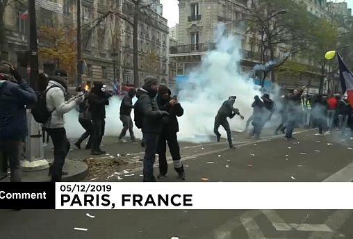 Violencia en París en una de las huelgas generales más secundadas en décadas