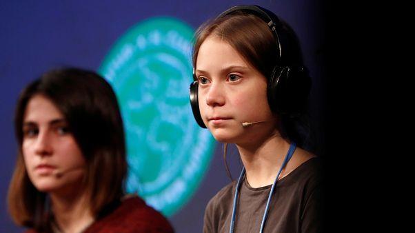 Greta Thunberg en la COP25 en Madrid, España, el 6 de diciembre de 2019.