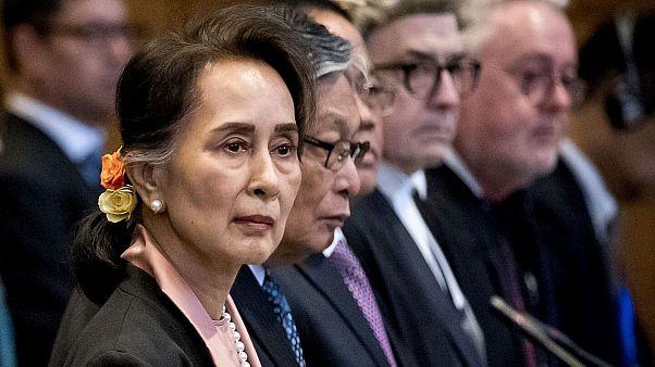 اتهام نسلکشی علیه میانمار؛ آنگسانسوچی در دیوان بینالمللی دادگستری حاضر شد