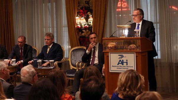 Ο αναπληρωτής υπουργός Προστασίας του Πολίτη της Ελλάδας, αρμόδιος για θέματα Μετανάστευσης Γιώργος Κουμουτσάκος