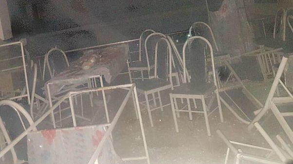 İran'ın Sakız kentinde, bir düğün salonunda gaz patlaması sonucu çıkan yangında en az 11 kişi öldü