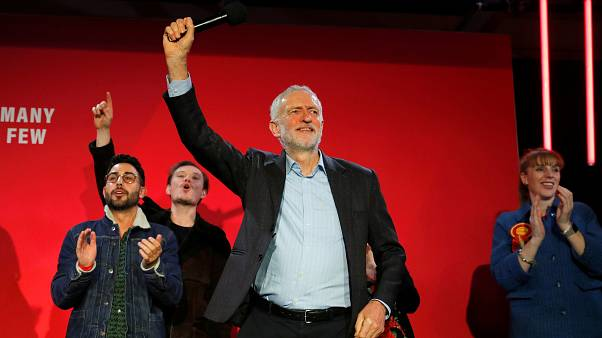 Britain's opposition Labour Party leader Jeremy Corbyn during a general election campaign rally in Birmingham, UK December 5, 2019.