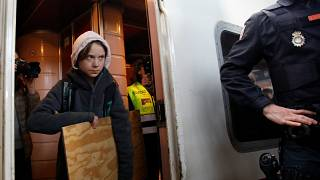 Climate change activist Greta Thunberg is pictured as she arrives in Madrid, Spain, December 6, 2019.