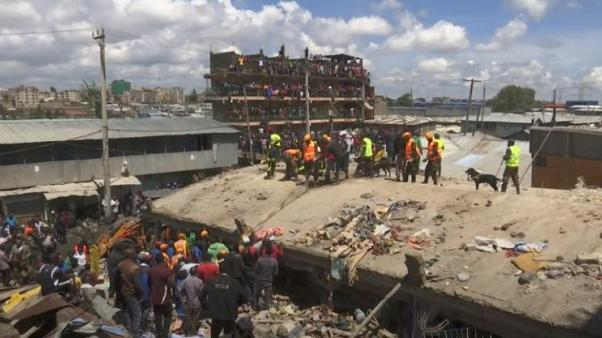 Six-story building collapses in Kenyan capital, Nairobi, people feared trapped under rubble