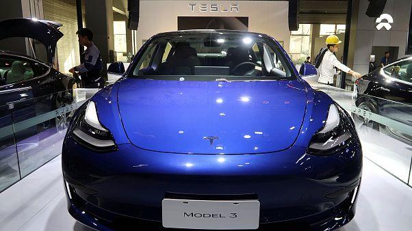 Çin yapımı Tesla Model 3 elektrikli araba
