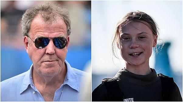 İngiliz sunucu Jeremy Clarkson ve İsveçli iklim aktivisti Greta Thunberg
