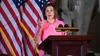 رئيسة الكونغرس الأمريكي الديمقراطية نانسي بيلوسي