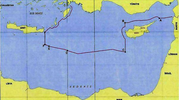 Türkiye ve Libya'nın imzaladığı Doğu Akdeniz'deki deniz sınırı ve Türkiye'nin MEB alanı - Telif hakkı Dışişleri Bakanlığı Hudut Genel Müdürü Büyükelçi Çağatay Erciyes