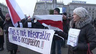 """متظاهرون وسط العاصمة مينسك ضد مشروع """"التكامل"""" - 2019/12/07"""