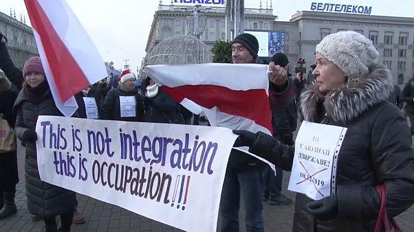 Au Bélarus, manifestation contre le rapprochement avec la Russie