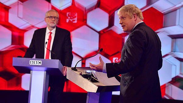 İngiltere Başbakan'ı Boris Johnson ile İşçi Partisi lideri Jeremy Corbyn'in tartışma programı