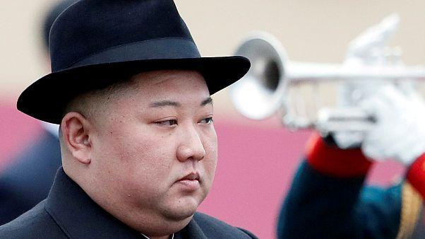 زعيم كوريا الشمالية كيم جونغ أون عندما وصل إلة فلاديفوستوك في روسيا للقاء الرئيس فلاديمير بوتين. 24/04/2019